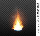animation burning fire with...   Shutterstock .eps vector #1377405707