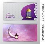 ramadan kareem greeting islamic ...   Shutterstock .eps vector #1377409061