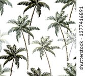 beautiful tropical vintage palm ... | Shutterstock .eps vector #1377416891