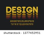 creative alphabet and numbers.... | Shutterstock .eps vector #1377452951
