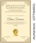 certificate of appreciation... | Shutterstock .eps vector #1377464021