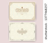 invitation  business card or... | Shutterstock .eps vector #1377468257