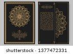 luxury vintage golden vector... | Shutterstock .eps vector #1377472331