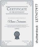 certificate. template diploma... | Shutterstock .eps vector #1377477977