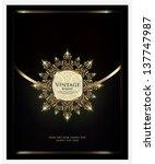vector. restaurant menu design | Shutterstock .eps vector #137747987