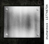steel metal plate on concrete...   Shutterstock . vector #137748704