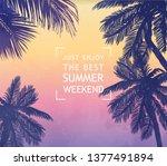 summer inspiration card for... | Shutterstock .eps vector #1377491894