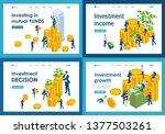 set of landing pages of... | Shutterstock .eps vector #1377503261