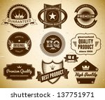 set of vintage labels on the... | Shutterstock .eps vector #137751971