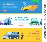car accidents. damaged and...   Shutterstock .eps vector #1377554531