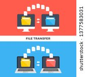 file transfer. computers and... | Shutterstock .eps vector #1377583031