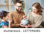 family savings  budget planning ...   Shutterstock . vector #1377596081
