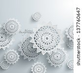 abstract lace graphics | Shutterstock .eps vector #137760647