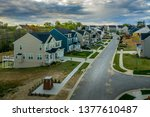aerial view of typical american ... | Shutterstock . vector #1377610487
