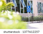 parking space reserved for...   Shutterstock . vector #1377612257