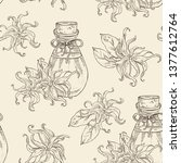 seamless pattern with ylang... | Shutterstock .eps vector #1377612764