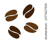 vector coffee beans icon seeds... | Shutterstock .eps vector #1377627554