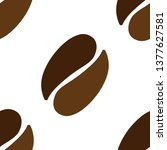 vector coffee beans icon seeds... | Shutterstock .eps vector #1377627581