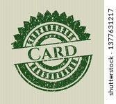 green card distress rubber... | Shutterstock .eps vector #1377631217