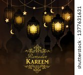 ramadan kareem  greeting...   Shutterstock .eps vector #1377631631