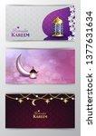 ramadan kareem greeting islamic ...   Shutterstock .eps vector #1377631634