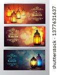 ramadan kareem  greeting...   Shutterstock .eps vector #1377631637
