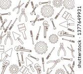 construction tools pattern... | Shutterstock .eps vector #1377649931