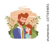 father with daughter avatar... | Shutterstock .eps vector #1377654851