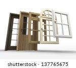 selection of doors and windows... | Shutterstock . vector #137765675
