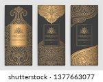 gold and black vintage... | Shutterstock .eps vector #1377663077