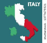 vector icon map of italy. map... | Shutterstock .eps vector #1377675521