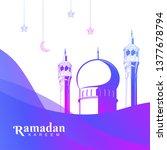 islamic banner background... | Shutterstock .eps vector #1377678794