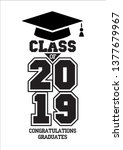 class of 2019. the concept of... | Shutterstock .eps vector #1377679967