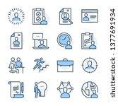 recruitment theme icon set. the ... | Shutterstock .eps vector #1377691934