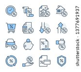 finance theme icon set. the set ... | Shutterstock .eps vector #1377691937