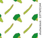 broccoli and asparagus seamless ...   Shutterstock .eps vector #1377692144
