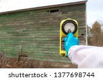 measuring radiation at an old... | Shutterstock . vector #1377698744