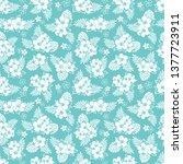 summer tropical background.... | Shutterstock .eps vector #1377723911