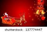 illustration of santa claus... | Shutterstock . vector #137774447