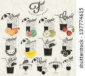 retro vintage style soft drinks ... | Shutterstock .eps vector #137774615