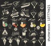 retro vintage style restaurant... | Shutterstock .eps vector #137774621