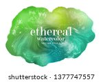 abstract colorful green stain . ... | Shutterstock .eps vector #1377747557