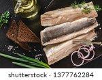 marinated fillet mackerel or... | Shutterstock . vector #1377762284