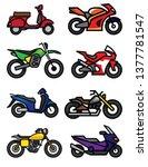 motorcycle racing sport vintage ...   Shutterstock .eps vector #1377781547