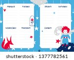 daily planner template. note... | Shutterstock .eps vector #1377782561