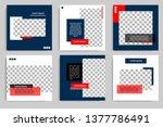 editable modern minimal square... | Shutterstock .eps vector #1377786491