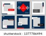 editable modern minimal square... | Shutterstock .eps vector #1377786494