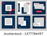 editable modern minimal square... | Shutterstock .eps vector #1377786497