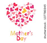 mother's day | Shutterstock .eps vector #137780345