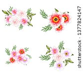 flowers set. collection of... | Shutterstock .eps vector #1377824147